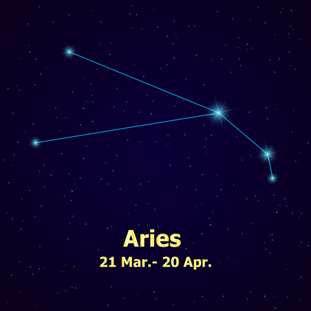 pisces star: Symbol: Aries Zodiac Sign. Vector Illustration.
