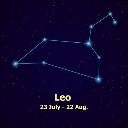 aquarius star: Symbol: Leo Zodiac Sign. Vector Illustration. Illustration