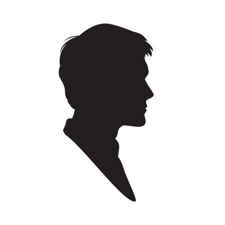 Silueta de un hombre en el fondo blanco. ilustración vectorial