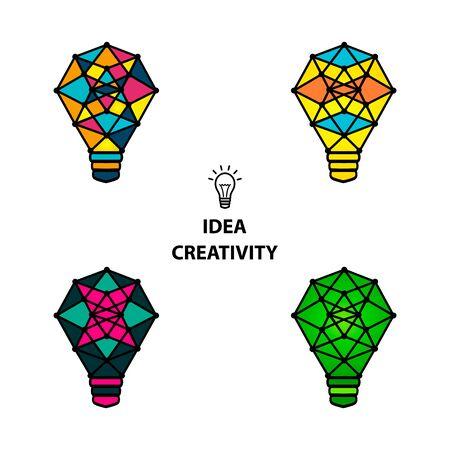 creative brain: Creative brain Idea and light bulb concept, design for poster flyer cover brochure, business idea, education concept.vector illustration