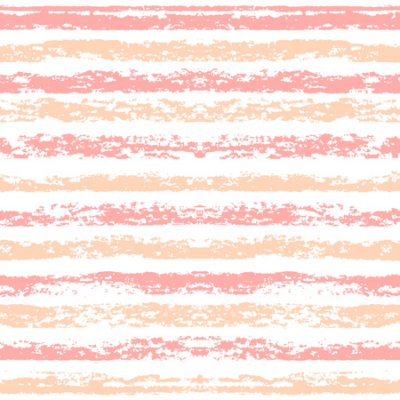 independance: Seamless striped pattern. Hand painted with oil pastel crayons. Red stripes on white background. Design element for printables, wallpaper, baby shower invitation, birthday card, scrapbooking Illustration