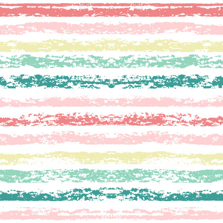 printables: Seamless striped pattern. Hand painted with oil pastel crayons. Red stripes on white background. Design element for printables, wallpaper, baby shower invitation, birthday card, scrapbooking Illustration