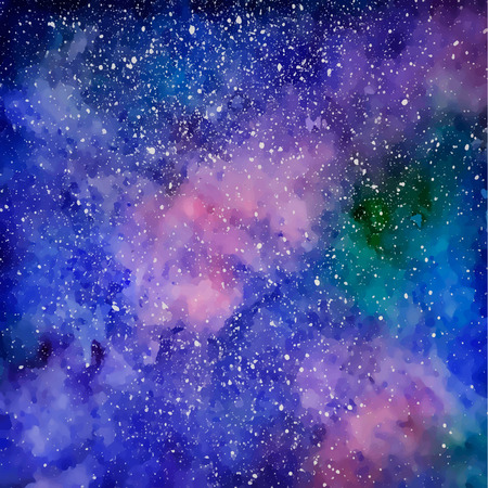 Space with many stars. Starry sky. Watercolor background. Hipster background. illustration. Illusztráció