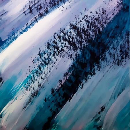 Het abstracte schilderen template. Handgemaakte textuur Olieverf schilderij. Vector illustratie.