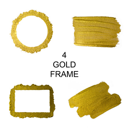 Gold frame. Gold brushes.