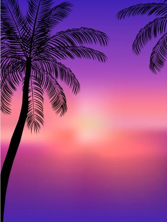 Fondo de verano. Beach Party Flyer. Diseño del vector Ilustración de vector