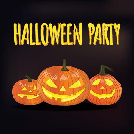 halloween party: Halloween party. Isolated pumpkin.