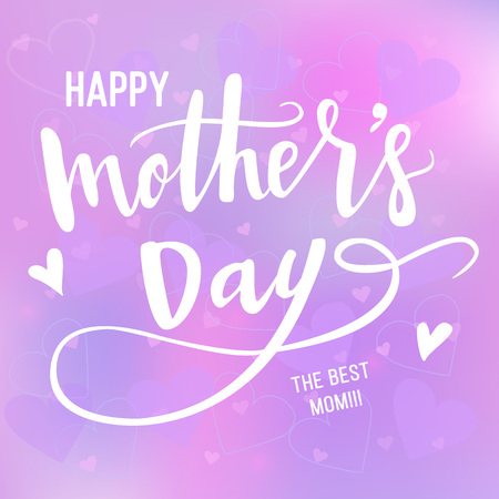 Happy Mothers Day Calligraphy Background. Vector illustration