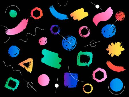 Hipster modern and colorful geometric background with gradient shape. Vector illustration Stock Photo