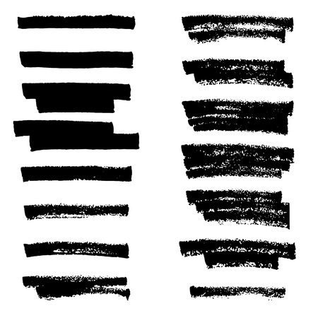 underline: Vector highlighter brush lines. Hand drawing.