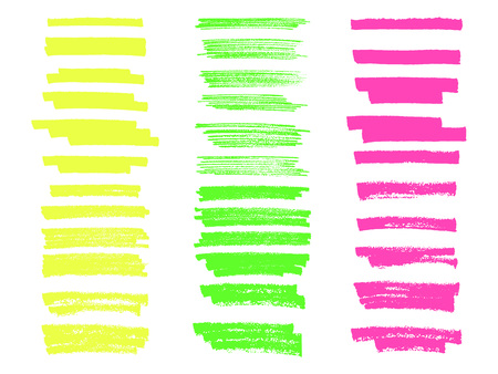 Vector highlighter brush lines. Hand drawing. Painting brushstroke.