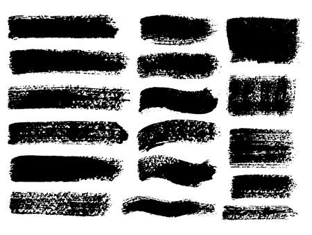 Painted grunge stripes set Illustration