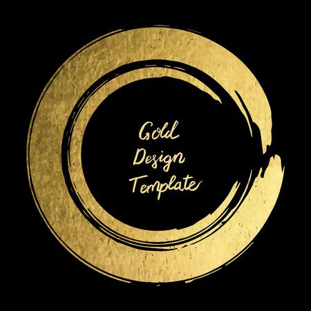 Gold round design templates for  for poster, brochure, invitatio