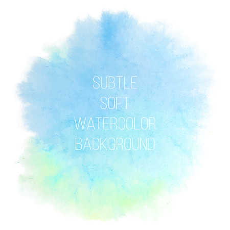 Colorful abstract vector background. Soft green watercolor stain Иллюстрация