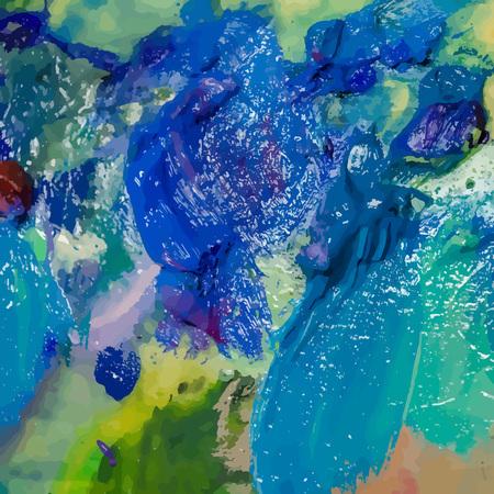 Oil painting  background. Brush strokes on the palette. Hand dra Çizim