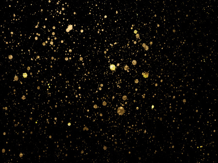 Gold spot one black background for Design Templates for Brochures, Flyers, card, Banners. Abstract Modern Background. Vector illustration