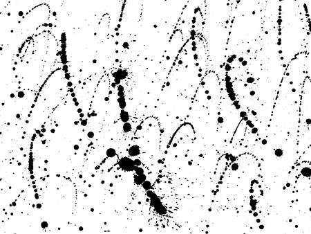 Ink blots Grunge urban background.Texture Vector. Dust overlay distress grain . .Black paint splatter , dirty,poster for your design. Hand drawing illustration Illustration