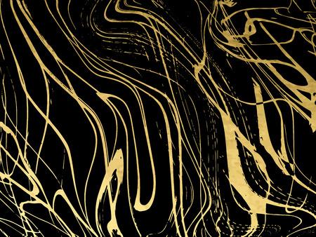 Modèle de marbre or, noir, blanc, conception de couvertures, texture de marbre, arrière-plans. Cartes de brochure affiche graphique modèle tendance Illustration vectorielle