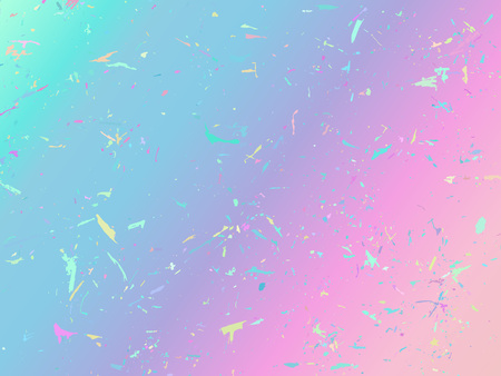 Unicorn background with rainbow mesh. Fantasy gradient backdrop with hologram. Vector illustration for poster, brochure, invitation, cover book, catalog. Illustration