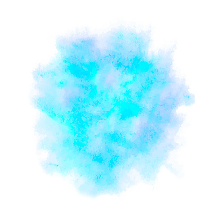 Colorful abstract vector background. Soft blue watercolor stain. Watercolor painting. 向量圖像