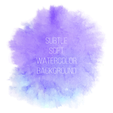 Colorful abstract vector background. Soft blue and purple watercolor stain. Watercolor painting.