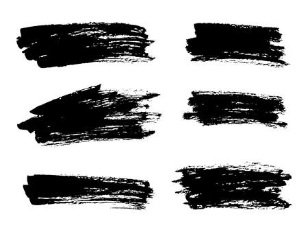 Vector black paint, ink brush stroke, brush, line or texture. Di