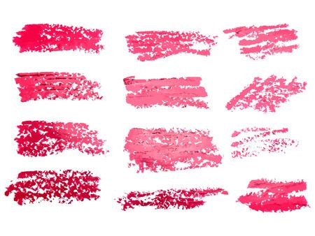 Red brush stroke backgrounds, paint or ink smudges vector for ta Ilustração