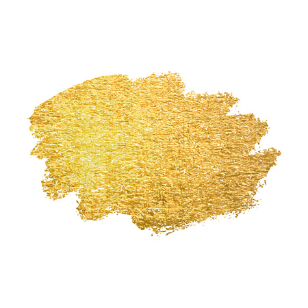 Vector gold paint smear stroke stain. Abstract gold glittering textured art illustration. Ilustrace