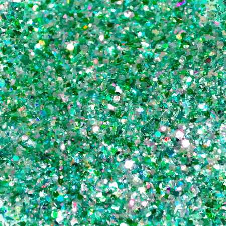 Green and blue sparkles. Green glitter background. Elegant abstract background brilliant shimmer. Vector illustration
