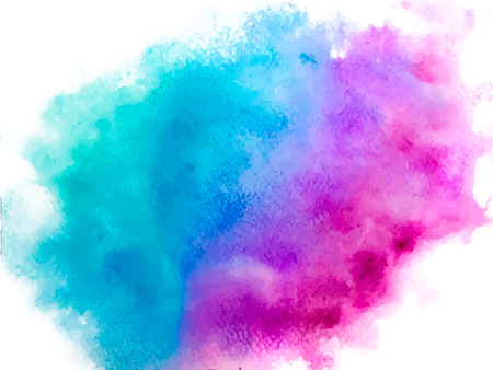 Colorful abstract vector background. Soft blue watercolor stain. Watercolor painting. Abstract painting, background for wallpapers, posters, cards, invitations