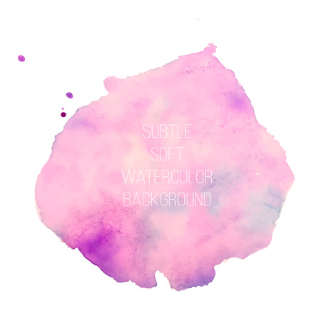 Colorful abstract vector background. Soft pink watercolor stain. Watercolor painting. vector
