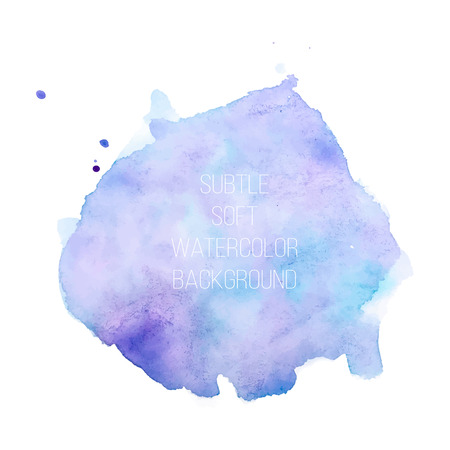 Colorful abstract vector background. Soft blue and purple watercolor stain. Watercolor painting. vector