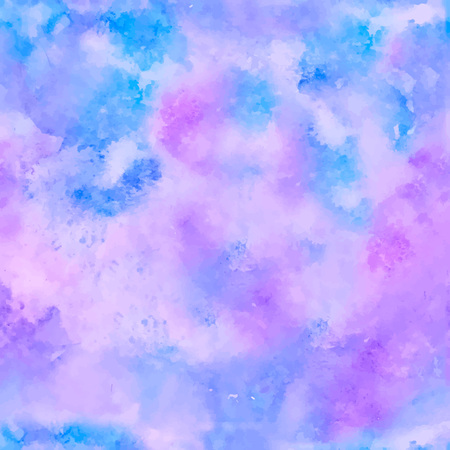 Seamless Colorful abstract vector background. Soft blue and purple watercolor stain. Watercolor painting. vector