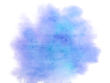 Vector Colorful abstract vector background. Soft blue and purple watercolor stain. Watercolor painting.