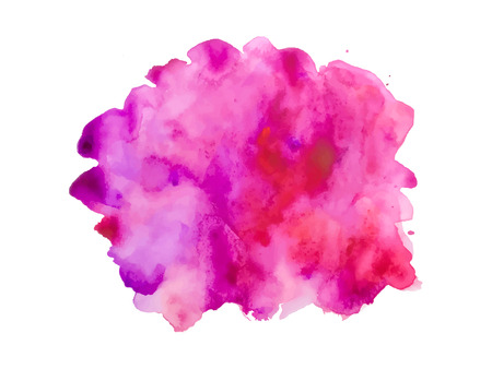 Colorful abstract vector background. Soft pink watercolor stain. Watercolor painting.