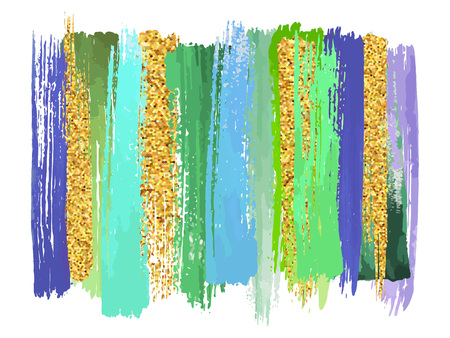 Abstract watercolor brush strokes isolated on white, creative illustration,fashion background. Vector illustration Çizim