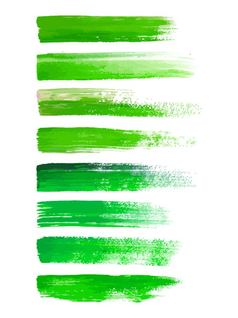 Abstract watercolor brush strokes isolated on white, creative illustration,fashion background. Vector Çizim