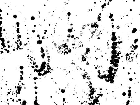 Ink blots Grunge urban background.Texture Vector. Dust overlay distress grain . Black paint splatter , poster for your design. Hand drawing illustration