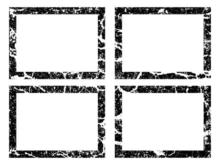 Vector grunge black frame. Banners, logos, Icons, labels and badges. Distressed textures shapes