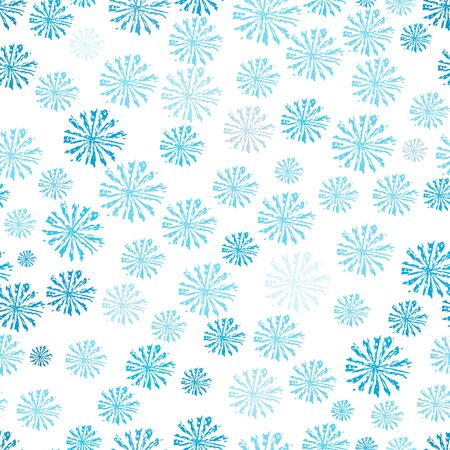 Snowflakes seamless pattern. Vector background for continuous replication.