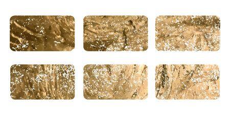 Gold rubber stamp. Luxury golden vintage border. Vector Ilustrace