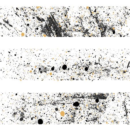 Seamless Ink blots Grunge urban background. Texture Vector. Dust overlay distress grain . Black paint splatter , dirty, poster for your design.