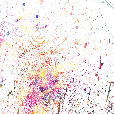 Colorful round confetti isolated on white background. Dust overlay distress grain. Colorful paint splatter , poster for your design.