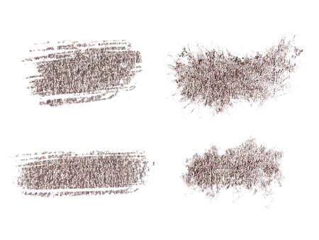 Vector golden brush stroke, brush, line or texture. Hand drawn brush stroke design element, box, frame or background for text. Vectores