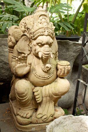 clays: Indian God, Ganesha sculpture Stock Photo