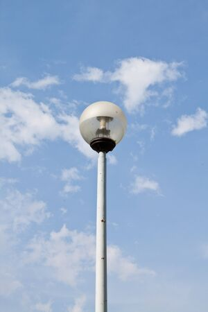 Modern street lantern against the blue sky Stock Photo - 8270091