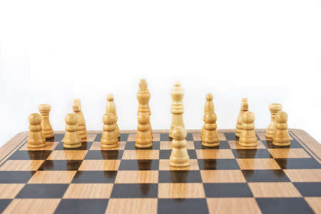 Chess game on white background photo