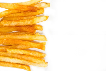 Potato French Fries  on white background photo