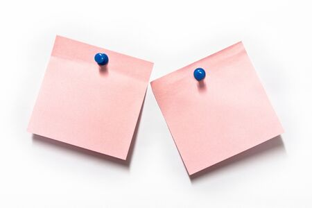 Pink Post it on white background Stock Photo - 8921800