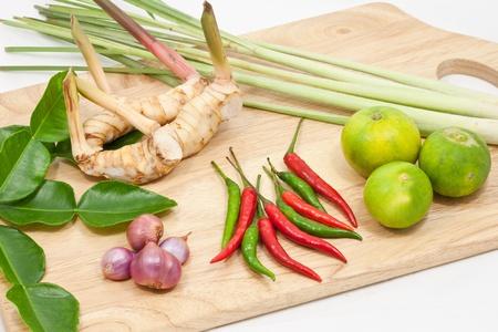 Tradition thai Tomyam ingredient herb photo